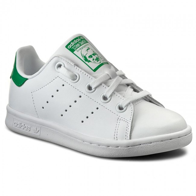 8b8890fe8ae Παπούτσια adidas - Stan Smith C BA8375 Ftwwht/Ftwwht/Green - Με ...