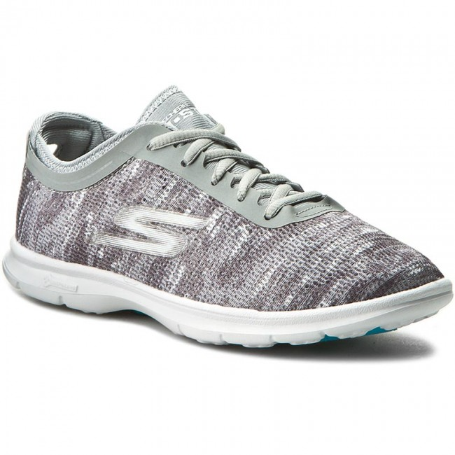 19a5cd87890 Παπούτσια SKECHERS - Go Step 14200/GYW Gray/White - Fitness ...