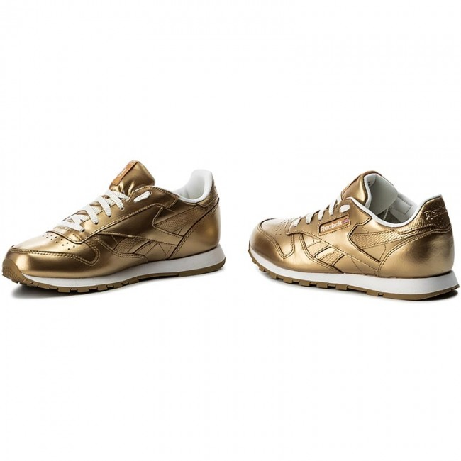 237f2e57570 Παπούτσια Reebok - Classic Leather Metallic BS8944 Brass White ...