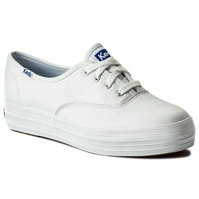 Πάνινα παπούτσια KEDS - Triple Leather WH55748 White - Sneakers ... 609ad91c4ae