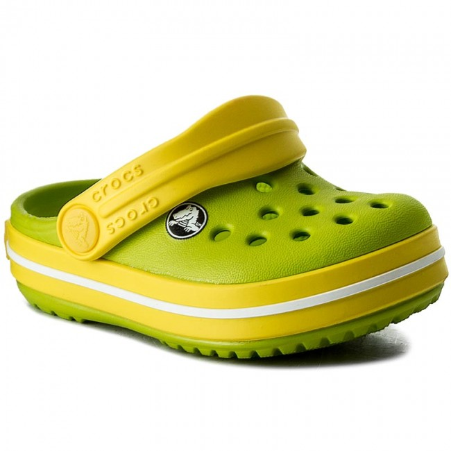 e04ca96b604 Σανδάλια CROCS - Crocband Clog K 204537 Volt Green/Lemon - Παντόφλες ...