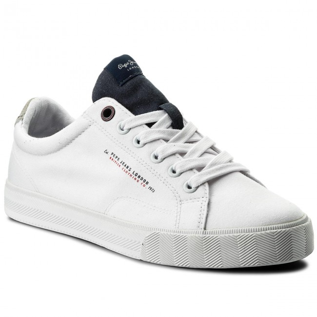 Πάνινα παπούτσια PEPE JEANS - New North Tennis PMS30422 Navy 595 ... 3e51a2819dc