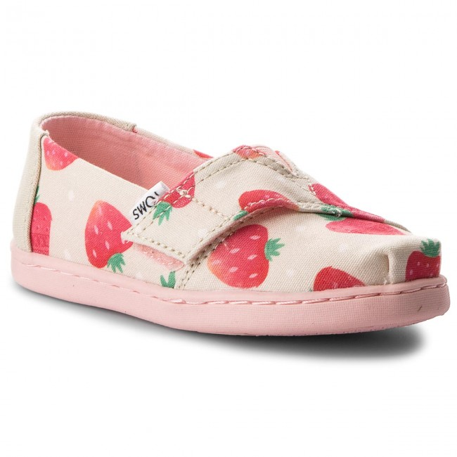 898d0b523ea Κλειστά παπούτσια TOMS - Classic 10011445 Birch Strawberries And Cream