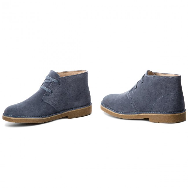 a2d836d28fc Μποτάκια CLARKS - Desert Boot 261338697 Denim Blue Suede - Μποτάκια ...