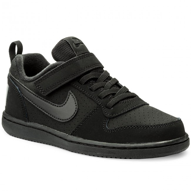 Παπούτσια NIKE - Court Borough Low (PSV) 870025 001 Black Black - Με ... cba28976114