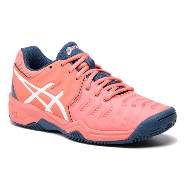 6d7d0a7f584 Παπούτσια ASICS - Gel-Resolution 7 Clay Gs C800Y Papaya/White 701 ...
