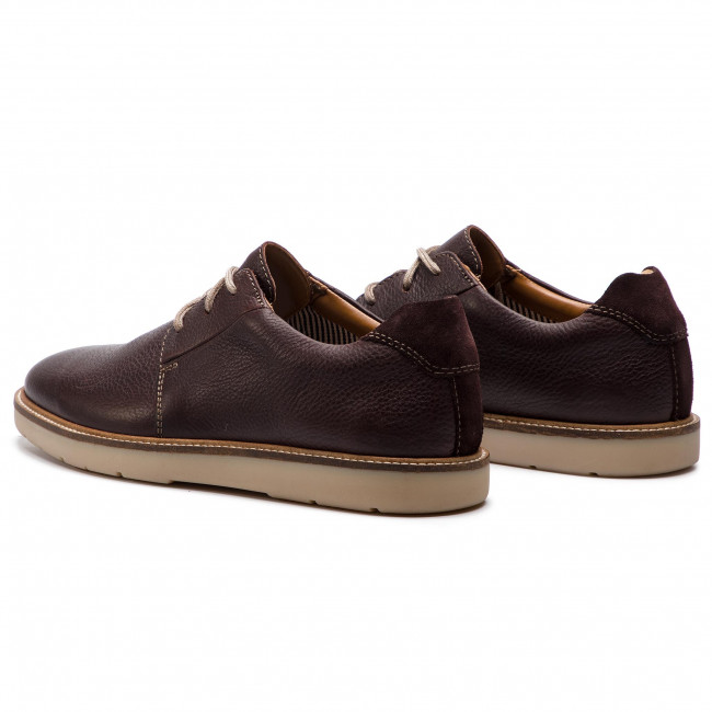 49528c2d11b Κλειστά παπούτσια CLARKS - Grandin Plain 261419237 Dark Brown Tumbled