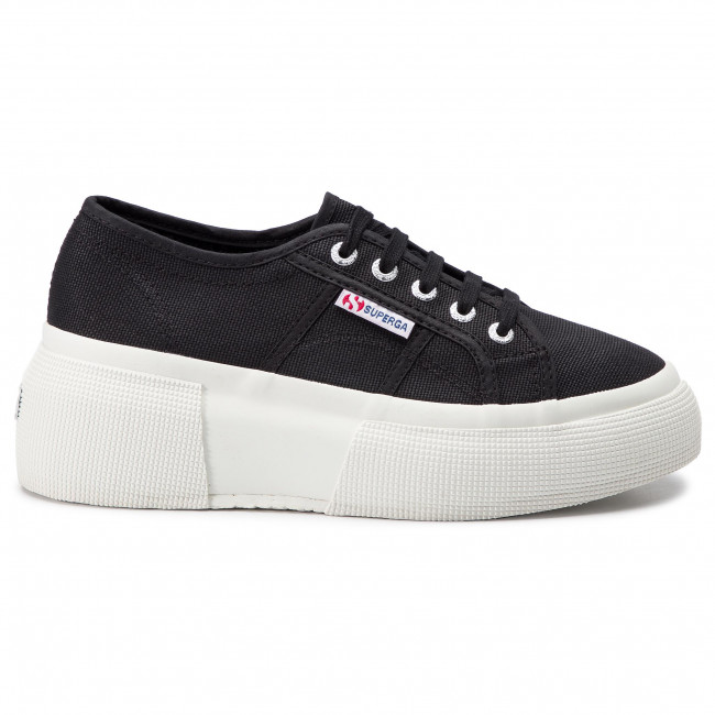 5801a1b5d1a Πάνινα παπούτσια SUPERGA - 2287 Cotw S00DQS0 Black 999 - Sneakers ...