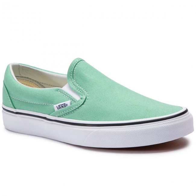 e0aa7a650a4 Πάνινα παπούτσια VANS - Classic Slip-On VN0A38F7VMX1 Neptune Green/True  White