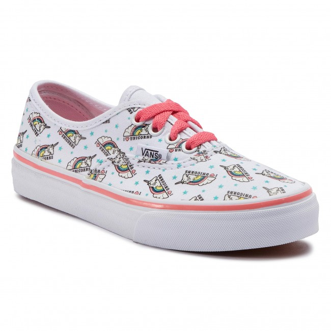 Πάνινα παπούτσια VANS - Authentic VN0A38H3VI91 (Unicorn) True White Stra 031d9be72e2