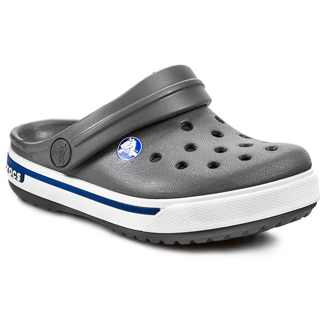b1a6e19b591 Σανδάλια CROCS - Crocband II.5 Clog Kids 12837 Charcoal/ Sea Blue ...