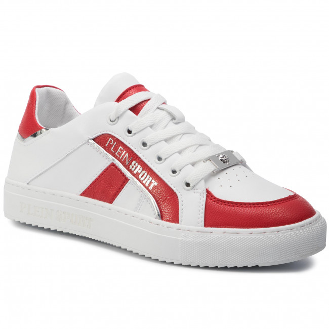 Αθλητικά PLEIN SPORT - Lo Top Sneakers Cross F19S MSC2246 STE003N White/Red 0113