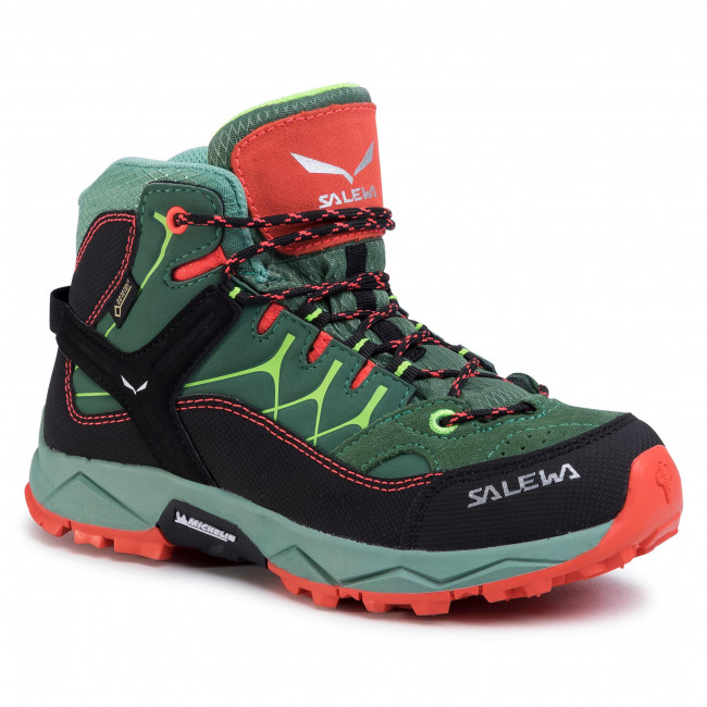 Μποτάκια πεζοπορίας SALEWA - Jr Alp Trainer Mid Gtx GORE-TEX 64006-5960 Myrtle/Tender Shot