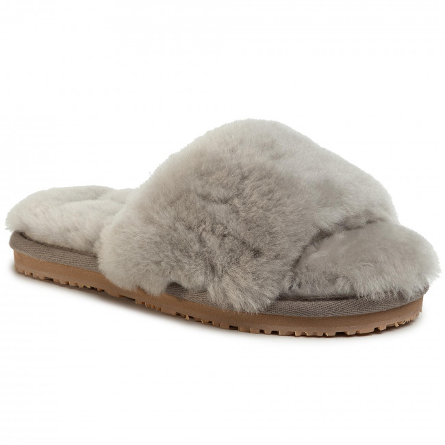 Σανδάλια MOU - Sheepskin Fur Slide Slipper FW161001L Light