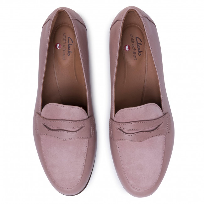 Lords CLARKS - Un Blush Go 261475884  Dusty Pink Combination  - Lords - Κλειστά παπούτσια - Γυναικεία.