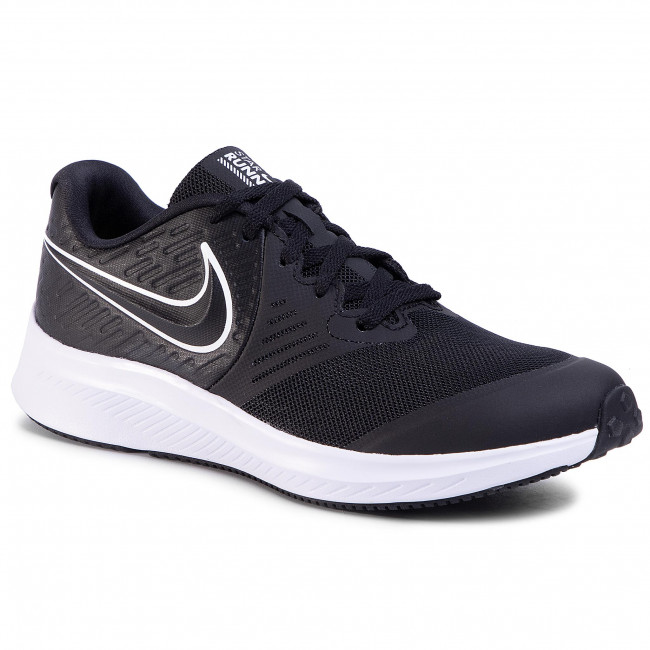 Παπούτσια NIKE - Star Runner 2 (Gs) AQ3542 001 Black/White/Black Volt
