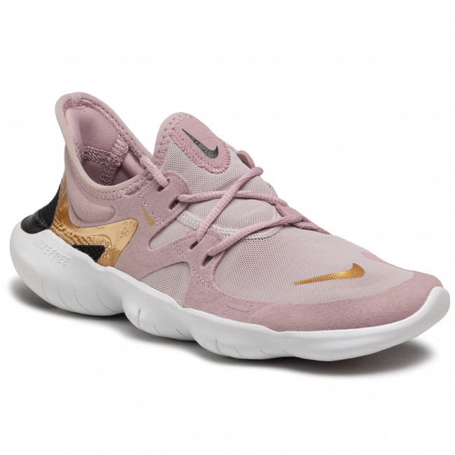 Παπούτσια NIKE - Free Rn 5.0 AQ1316 501  Plum Chalk/Metallic Gold