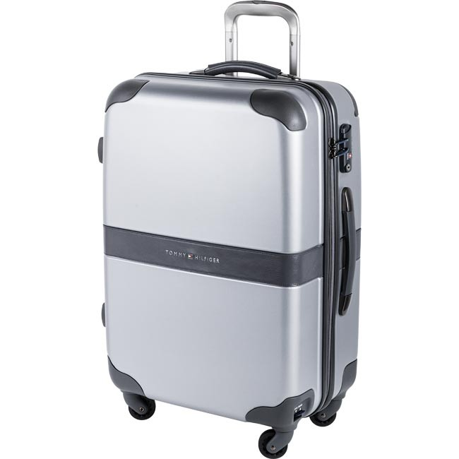 Μεσαία Σκληρή Βαλίτσα TOMMY HILFIGER - Heritage Medium Trolley 4 Wheels0BTWS302HP Silver