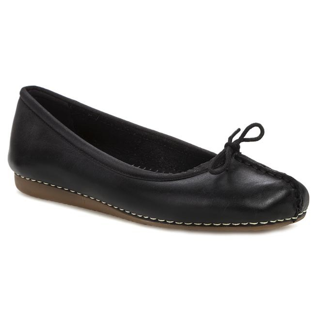 Μπαλαρίνες CLARKS - Freckle Ice 203529294 Black Leather
