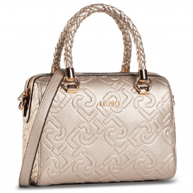Τσάντα LIU JO - S Satchel NF0021 E0538 Light Gold 90048