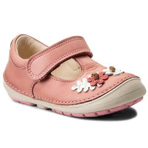 2c1c9885433 Κλειστά παπούτσια CLARKS - Softly Blossom 261336336 Baby Pink Leather