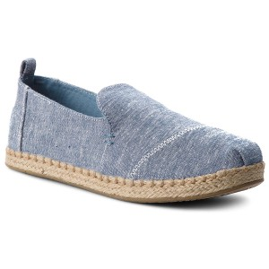 cdb5e4df9b1 Εσπαντρίγιες TOMS - Deconstructed Alpargata Rope 10009835 Blue Slub Chambray