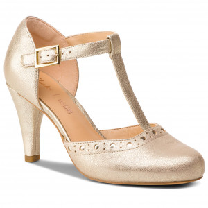 65f857722bb Κλειστά παπούτσια CLARKS - Dalia Leah 261393024 Champagne Leather